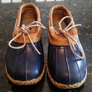 LL BEAN Bean Boots Rubber Moc Navy 10